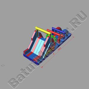 Макет модуля спортивного батут