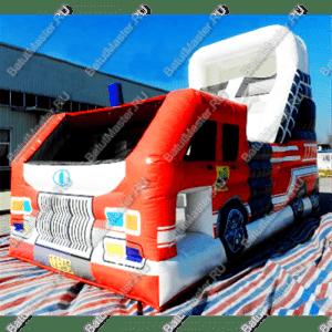 """Батут """"Пожарная машина"""", размер 10*6*7 м"""