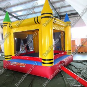 Детский надувной батут «Смайл» с крышей, размер 3.3*3*3.5 м.