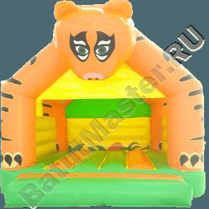 Детский надувной батут «Тигр на прогулке» с крышей