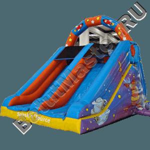 Детский надувной батут-горка «Космос»-111
