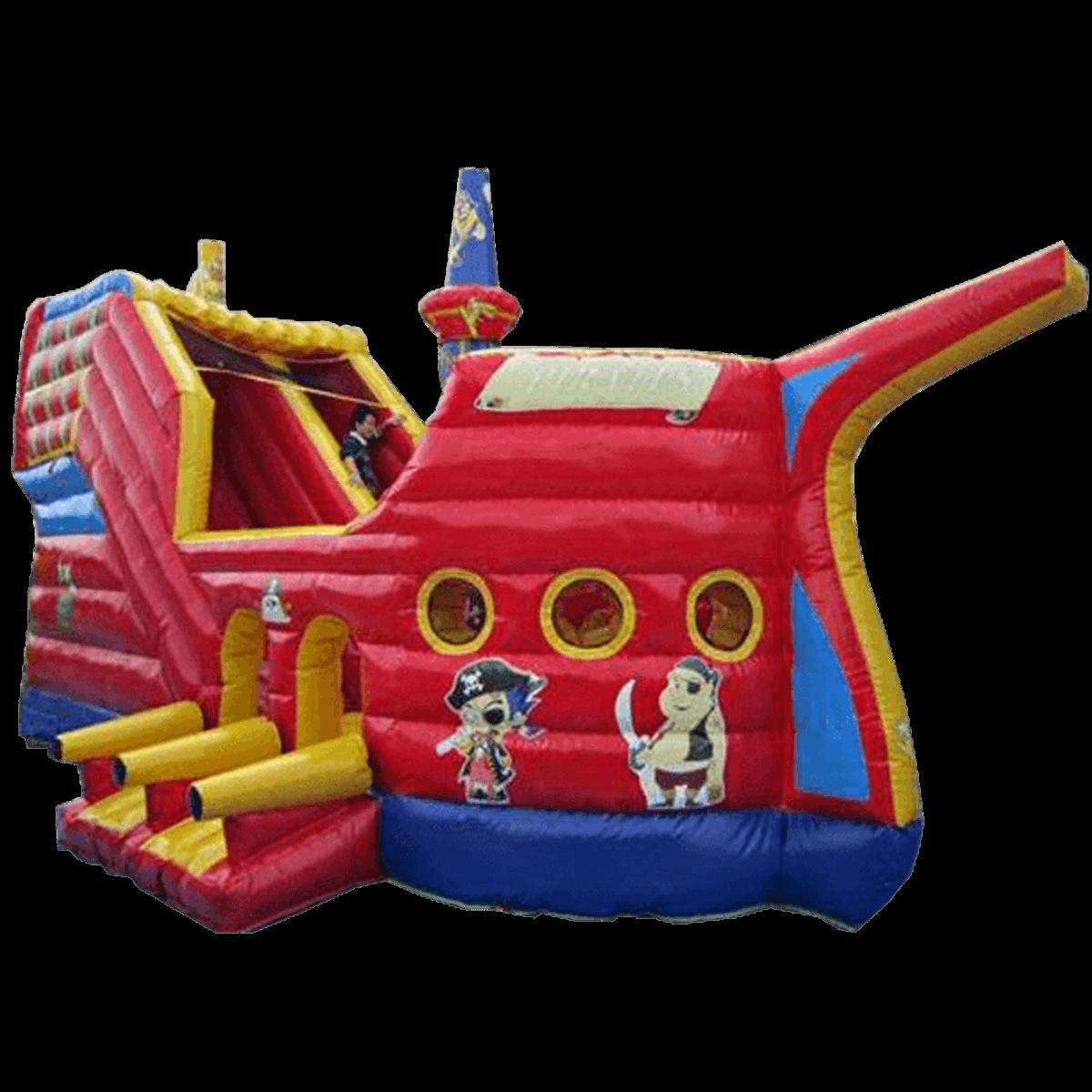 Детский надувной батут-горка «Пиратская шхуна»