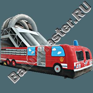 Детская надувная горка «Пожарная машина»