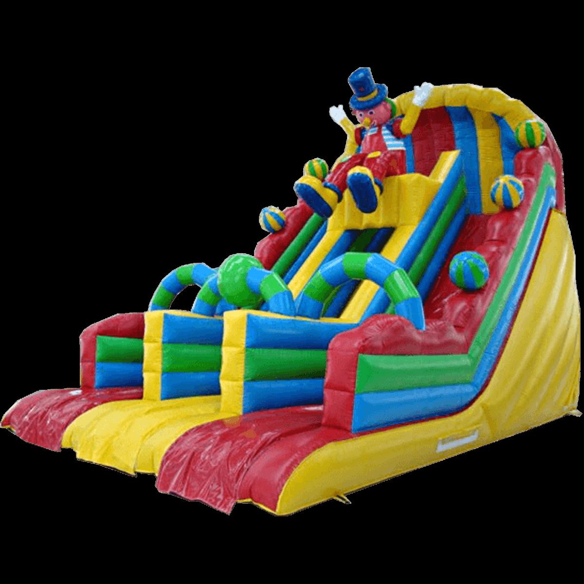 Детский надувной батут-горка «Скоморох»