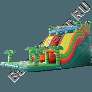 Детский надувной батут-горка «Тропики»-101