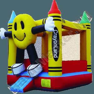 Детский надувной батут «Смайл» с крышей