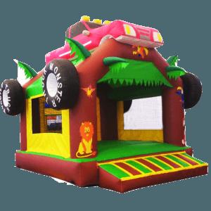 Детский надувной батут «Тачка Monster» с крышей