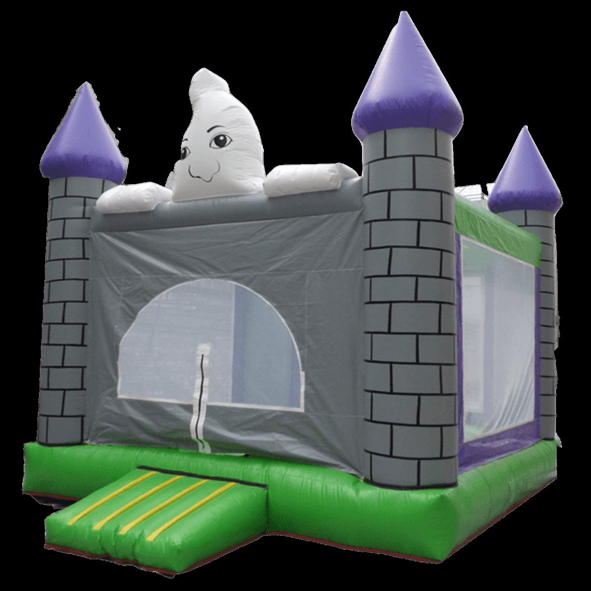 Детский надувной батут «Замок Каспера» с крышей