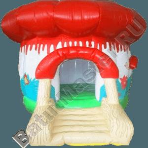 Коммерческий надувной батут «Грибок» с крышей