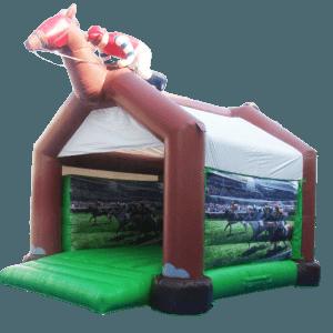 Коммерческий надувной батут «Лошадка» с крышей