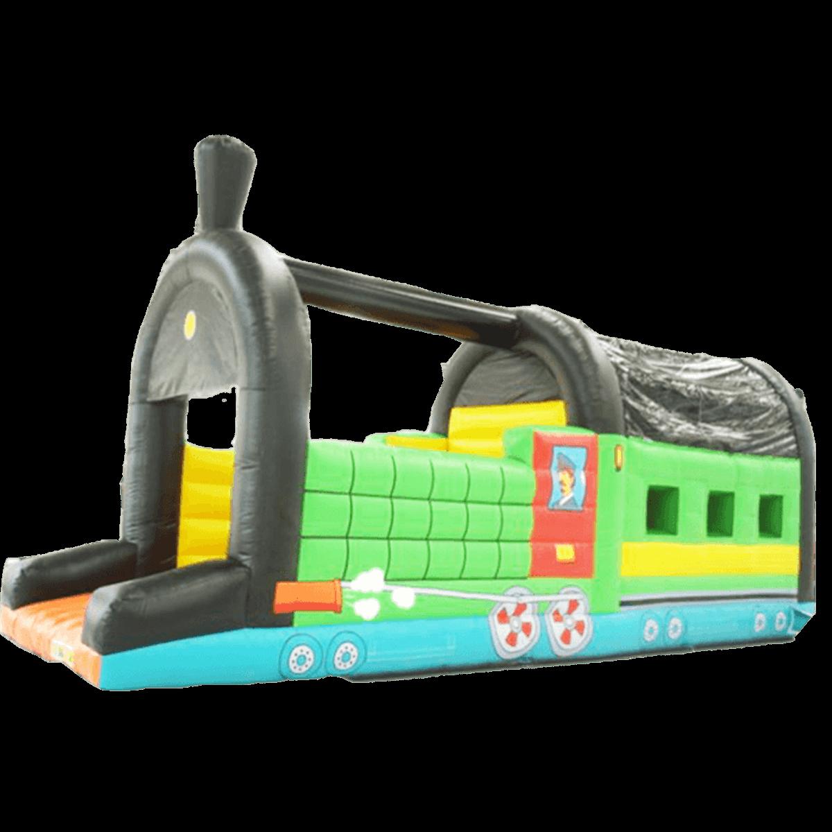 Коммерческий надувной батут «Поезд» с крышей