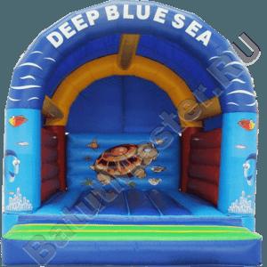 Коммерческий надувной батут «Синее море» с крышей