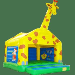 Коммерческий надувной батут «Жираф» с крышей