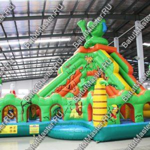 Детский надувной батут «Зелёный остров», размер 8*6*6 м