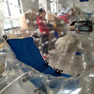 Зорб Капля, 3*2 м., ТПУ, ручки, 2 входа, 2 места, усиленные сидения