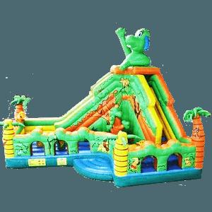 Детский надувной батут «Зелёный остров»