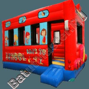 Коммерческий надувной батут «Школьный автобус»-81