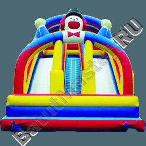 Детский надувной батут-горка «Клоун»