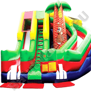Детский надувной батут-горка «Обезьянка»