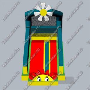 Уличный надувной батут «Цветочек», размер 6*4*6.5 м