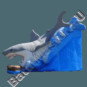 Детский надувной батут-горка «Акула»-21