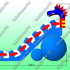 "Батут ""Дракон"" синий, размер 15х7х9 м.Батут ""Дракон"" синий, размер 15х7х9 м."