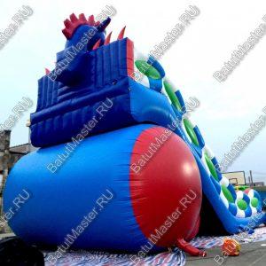 "Батут ""Дракон"" синий, размер 15х7х9 м."
