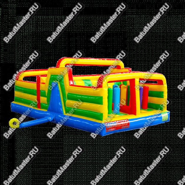 """Коммерческий надувной батут """"Увлекательная полоса препятствий"""" 7x4.5x2.8"""