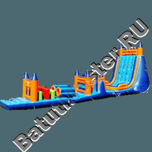 Спортивный надувной батут «Замок со скалой»