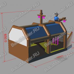 """Макет надувного батута """"Пиратский корабль 2"""""""