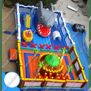 """Надувной батут """"Остров сокровищ 2"""", часть размером 15*8*4.3 м"""