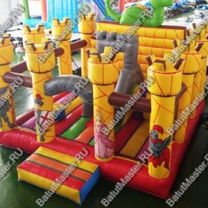 """Надувной батут """"Замок дракона"""", размер 5*5*4 м"""