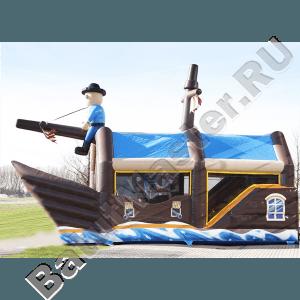 Большой надувной батут-горка «Пиратский корабль 2»