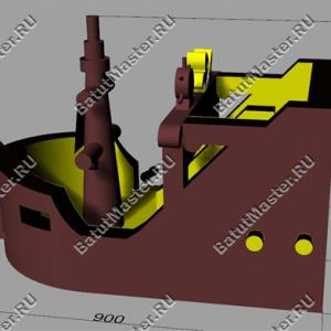 """Макет надувного батута """"Пиратский корабль 3"""""""