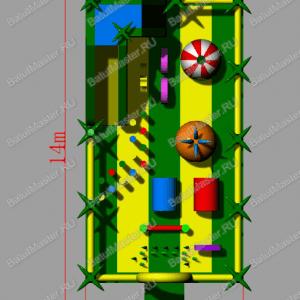 """Надувной батут """"Джуманджи"""" размером 14x7x5"""