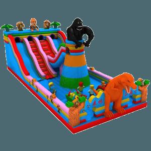 Коммерческий надувной батут «Дядя Сэм и горилла»