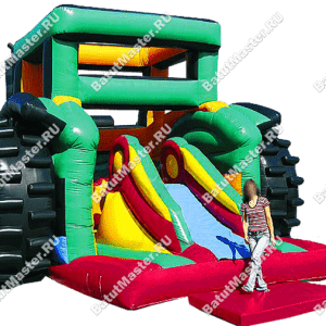 """Коммерческий батут """"Трактор"""", размер 11*6*5 м"""