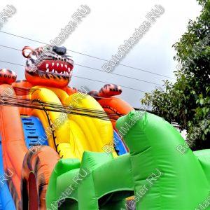 """Надувной батут """"Зеленоглазый тигр"""", размер 15х7х10 м."""