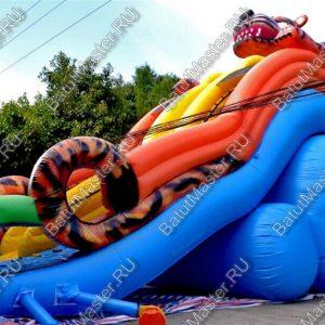 """Надувной батут """"Зеленоглазый тигр"""", размер 17х7х11 м."""