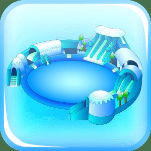 батуты с бассейном