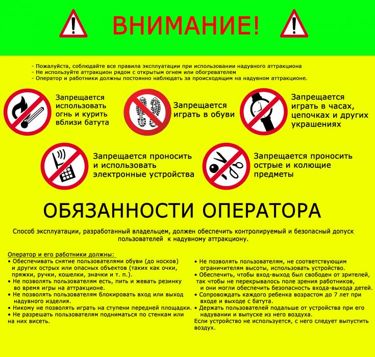 инструкция по охране труда для контролера аттракционов