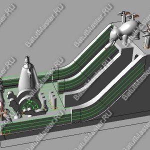 """Макет батута """"Сафари парк"""" размером 12*6*6"""