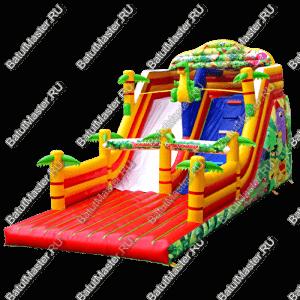 """Надувной батут """"Тропические приключения"""", размер 11x5x7 м."""