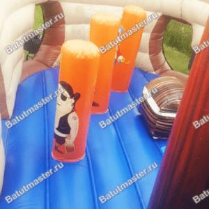 Коммерческий надувной батут «Корабль с осьминогом»