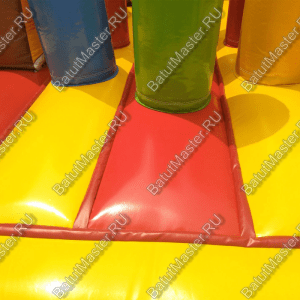"""Коммерческий надувной батут """"Слоник со скалодромом и двойным переходом"""" 11x6x6.5"""