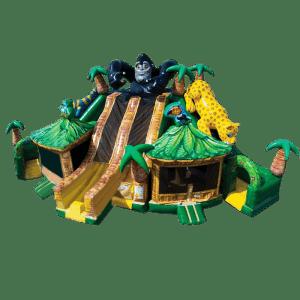 Коммерческий надувной батут «Тигры-обезьянки»