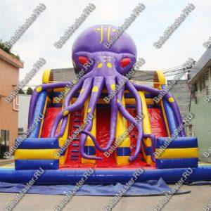 """Батут-горка """"Мега-осьминог"""", размер 8*8*8 м"""
