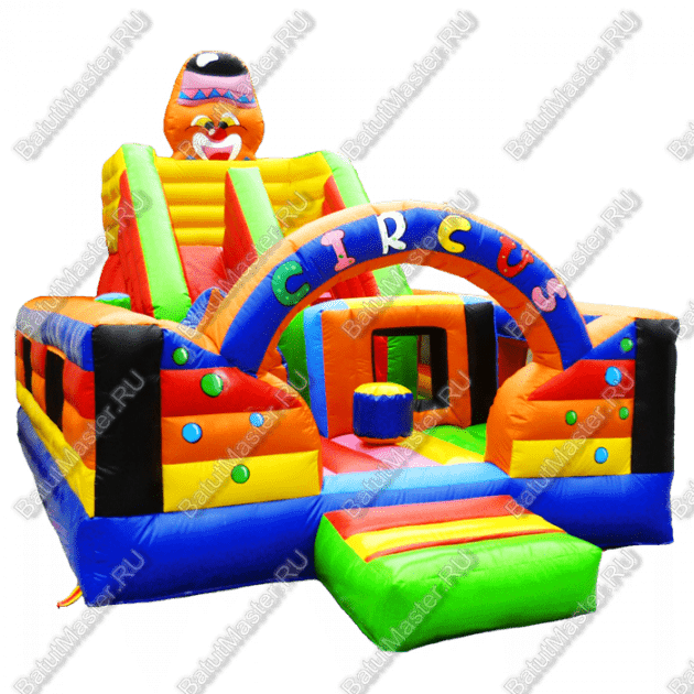 """Надувной батут """"Цирковое наслаждение"""", размер 7*4*4.5 м"""