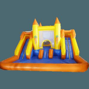 Батут «Морковка» с бассейном