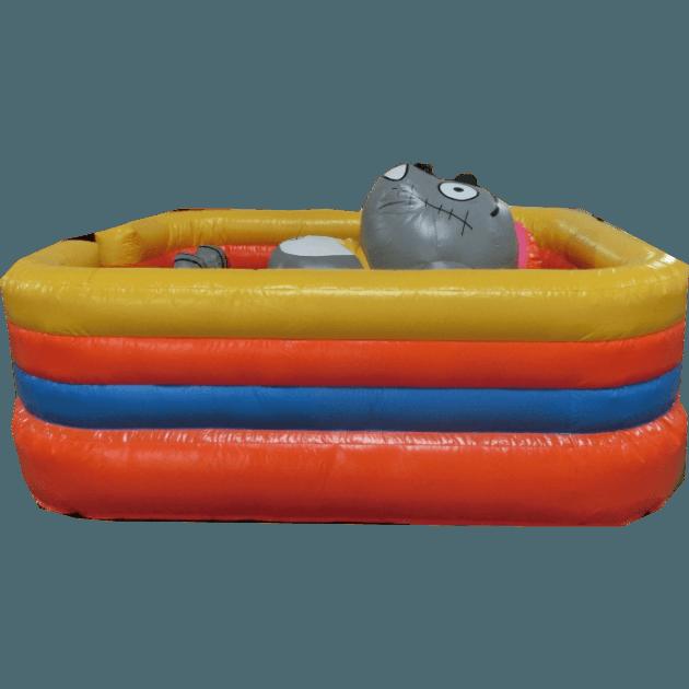 Коммерческий надувной батут «Кот на отдыхе»
